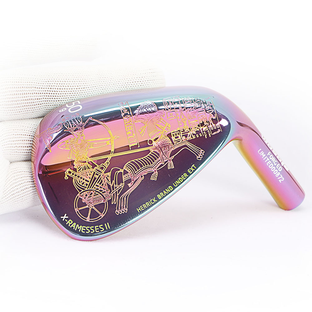 Image 2 - Golf clubs wedges Egyptian Culture right handed unisex Colorful color 50/52/56/58/60 Degree Steel Shaft-in Golf Clubs from Sports & Entertainment