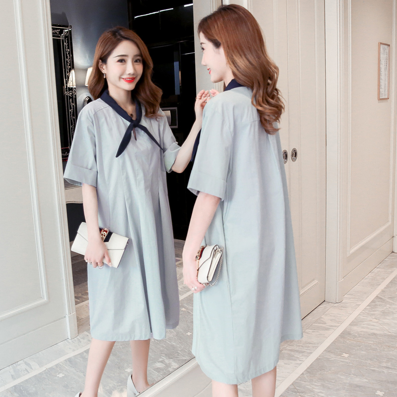 Solid Maternity Clothes Cute Patchwork Pregnancy Dress Fashion Maternity Clothing Of Pregnant Women Chiffon Premama