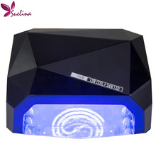 With Retail(original) box !36W LED CCFL Nail Dryer Light  Dimond Shape UV Gel Curing Lamps Popular Drying Polish Tools Diamant