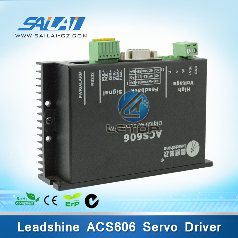 Leadshine dc servo driver ACS606 work at 24-60VDC out 200W for BLM57180-1000 Brushless servo motor 180W wholesale 3 pcs a lot leadshine ac servo drives acs606 work 24 60 vdc out 0a to18a fit blm57180 1000 brushless servo motor