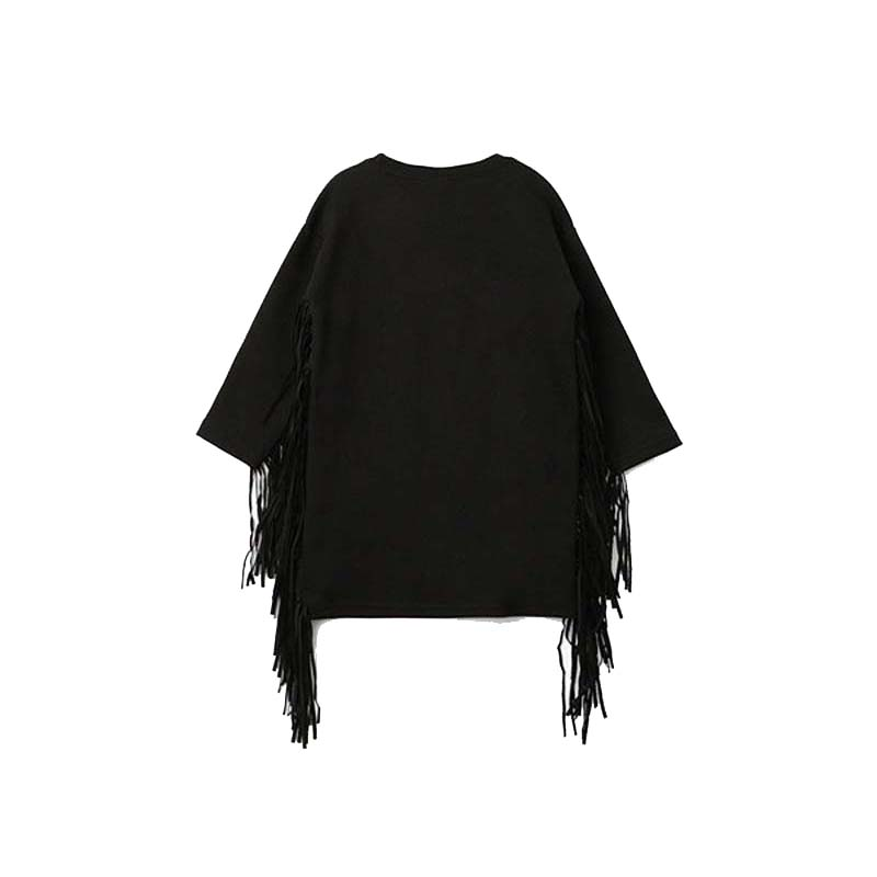 1 Piece All Black Tassels Dress Warm Wool Cotton Children Dresses Girls Kids Gifts Clothes Birthday Party Clothing For Girls blue kids girls party dress 2017 cotton casual students denim dresses kids sashes button clothes children one piece dresses