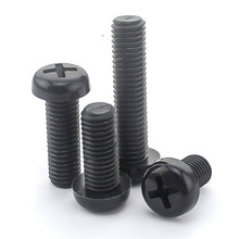 20PCS-M4*6/8/10/12/15/20 10PCS-M4*25/30/35/40 Black Round Head Round Head Plastic Screws /Nylon Screws/ Pan Head Plastic Screws