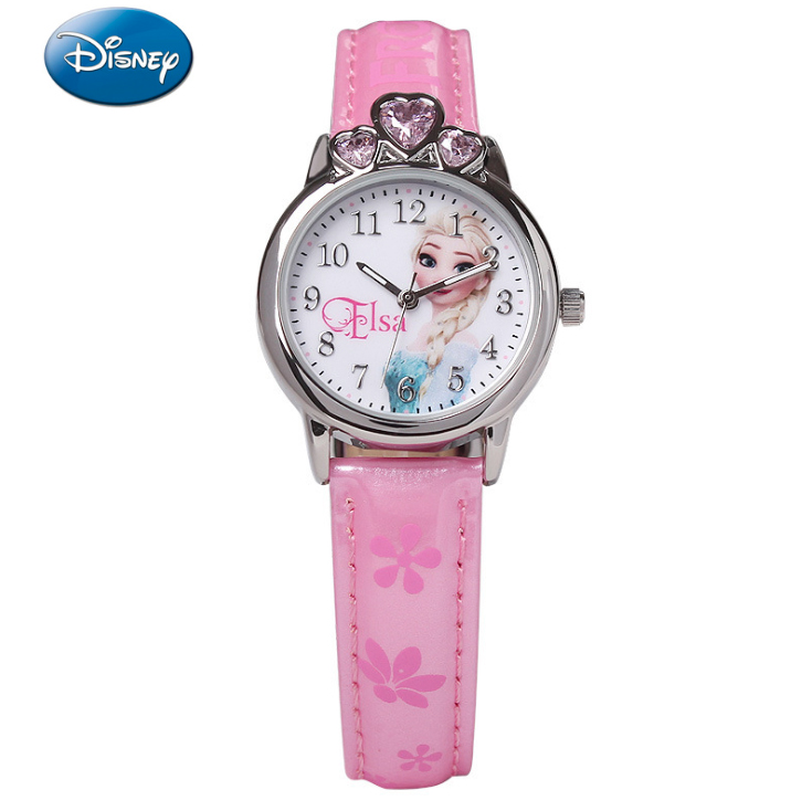Watches 100% Genuine Disney Brand Watches Frozen Sophia Minnie Watch Fashion Luxury Watch Men Girl Wrist Disney Watch Red Pink Attractive Designs;
