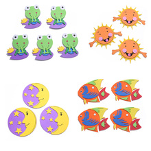 Cartoon  EVA Foam Wall Stickers Sun Star Moon Animal Kindergarten Home Palm Colorful Decoration