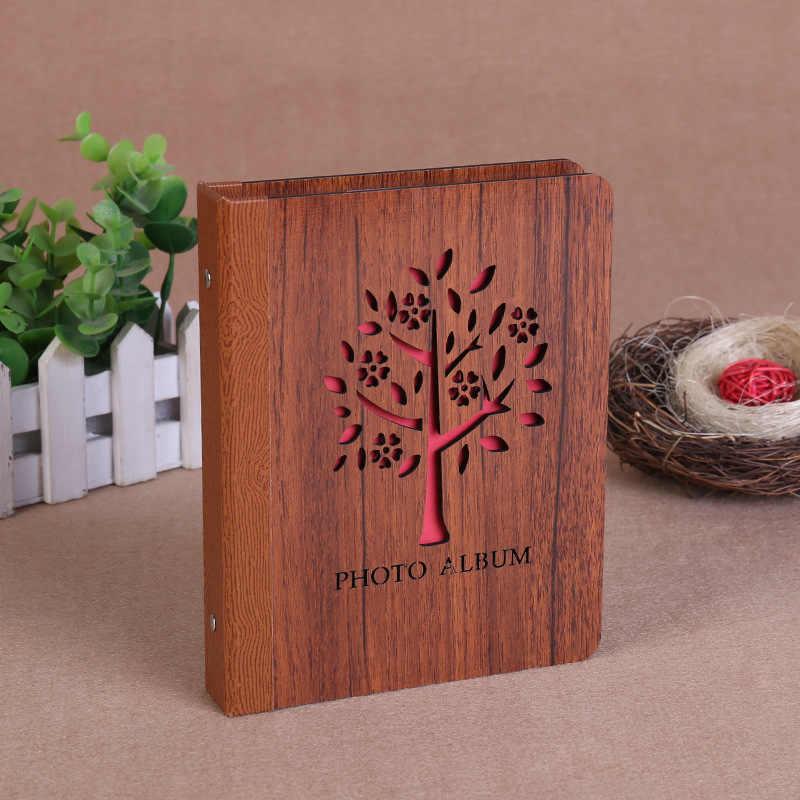 6 inch wood DIY interstitial album  Black Sheet  Handmade Love Theme Kids Scrapbook Cute Photo Album Wedding anniversary gift