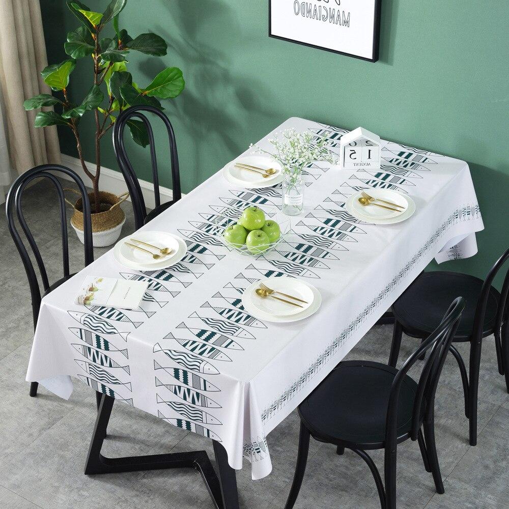 Cactus vert feuilles nappe imperméable Tafelkleed plastique PVC résistant à l'huile nappes Table couverture décor à la maison