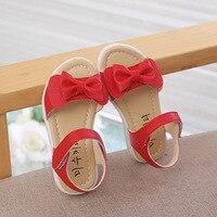 Dziewczyny sandały 2019 lato nowy mody słodkie łuk dzieci buty księżniczka buty dla dzieci dziewczyny ryby usta sandały plażowe rozmiar 21  30 czerwony różowy w Sandały od Matka i dzieci na