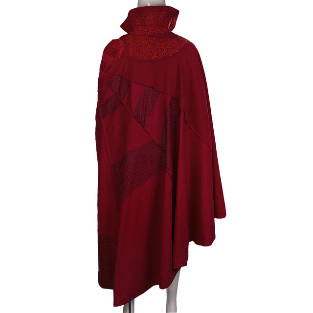 2016 Marvel Movie Doctor Strange Costume Cosplay Steve Red Cloak Full Set Costume Robe Halloween Costume 5
