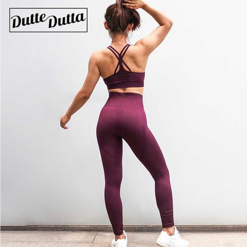 Seamless Sport Yoga Set For Women Fitness Clothing Gym Yoga Leggings Fitness Padded Sport Bra Yoga