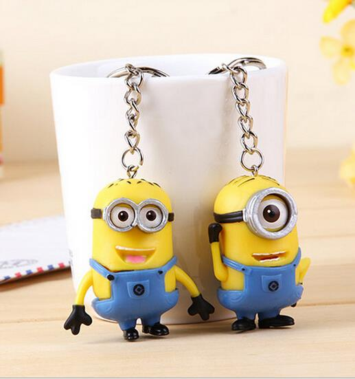 Hot selling best christmas gifts <font><b>Despicable</b></font> <font><b>me</b></font> <font><b>2</b></font> <font><b>LED</b></font> <font><b>Keychain</b></font> key rings talk <font><b>minions</b></font> press button say I love you gift for lovers