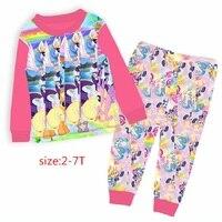 Kids Christmas Pajamas Set Children Pajama For Girls 2 7 Years Girls Sleepwear Baby Pyjama Set