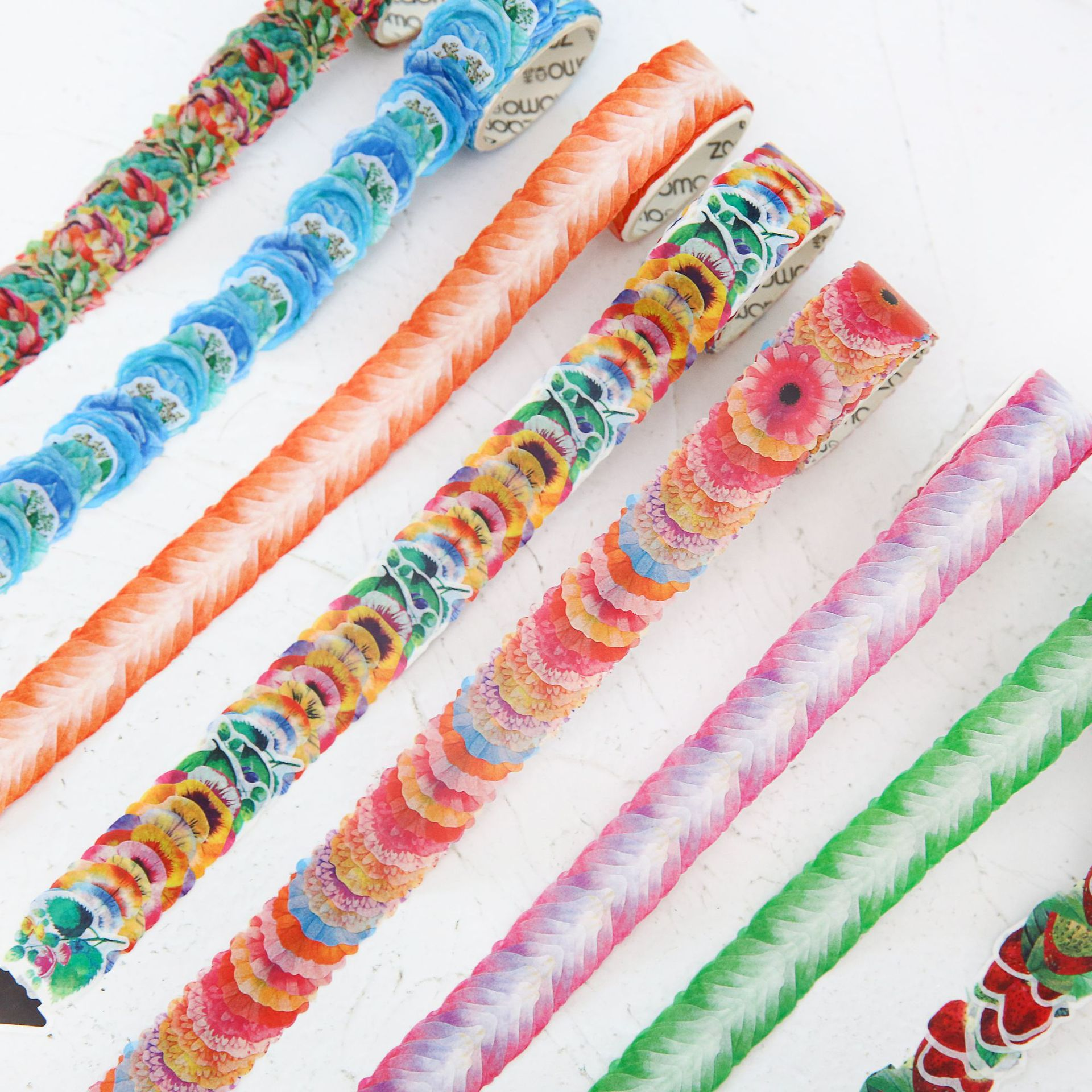 Beautiful Colorful Petals Flowers Decorative Adhesive Tape Masking Washi Tape DIY Scrapbooking Sticker Label Japanese Stationery