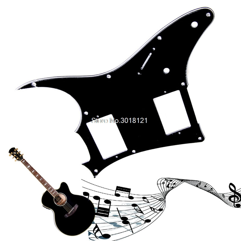 1PC 3Ply Guitar Pickguard Scratch Plate For Ibanez GRX20Z Parts Black Guitar Parts