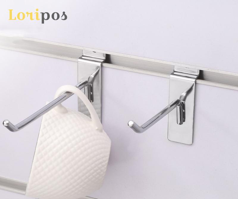 Shelf Mount Bracket Shelf Hook Mount Metal Wall Mounted Organizer Storage Hooks Retailing Merchandise Display Slot Plate Hanger