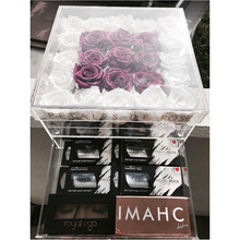 Acrylic Clear Flower Box Rose Case With Drawer Makeup Storage Holy Gift Valentine's Day Gift For Girlfriend Without Flowers