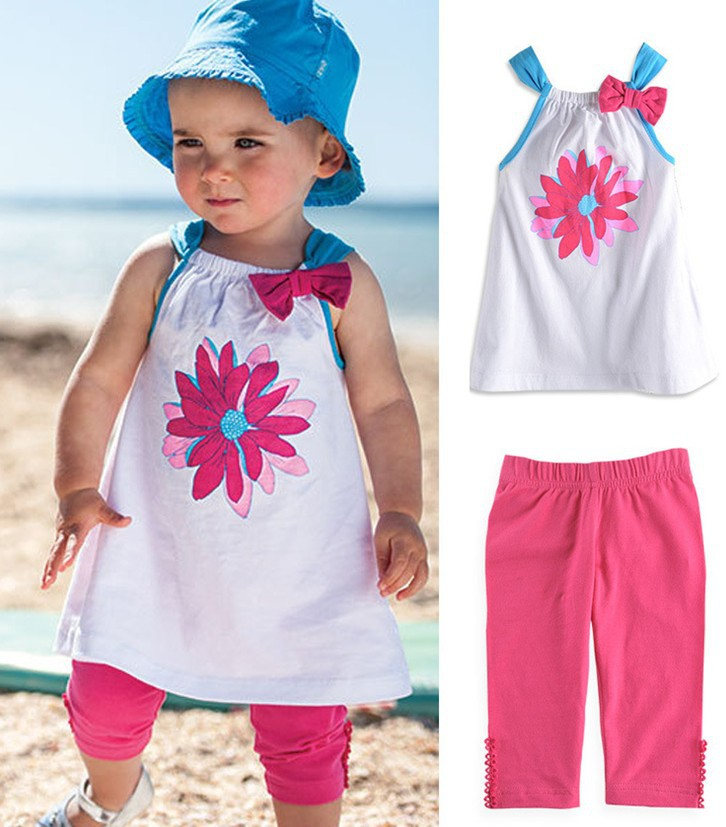 PY0055 Free shipping cute baby girl beach suit fashion ...