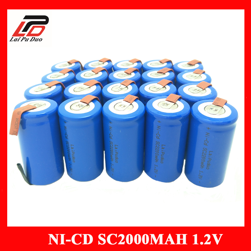 SC Battery SUBC Rechargeable Battery 1.2V 2200mAh NI-CD 15A Power Accumulator for HITACHI Bosch Dewalt MAKITA Neato