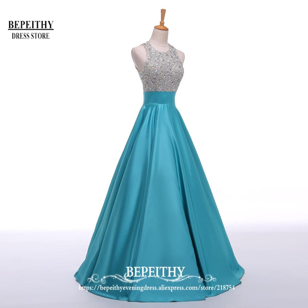 Robe Longo Bleu Royal Robe De Soirée Longue 2016 Cristal Top Vintage - Habillez-vous pour des occasions spéciales - Photo 5