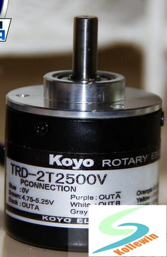 TRD-2T2500V authentic real axis photoelectric incremental rotary encoder, new in box, free shipping.