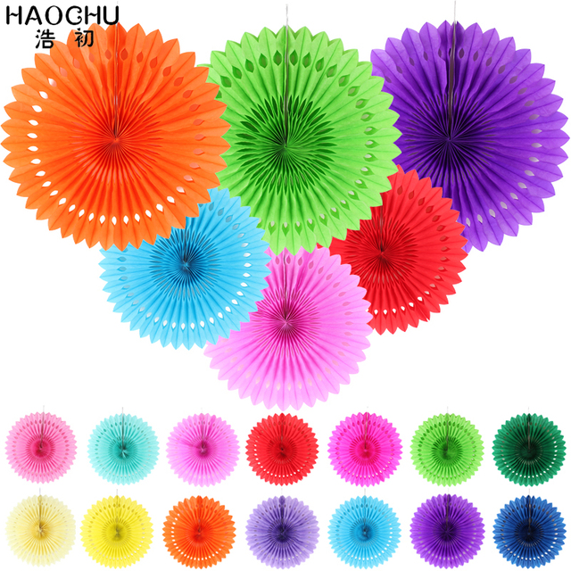 5pcs tissue paper cut out paper fans for party decorations pinwheels 5pcs tissue paper cut out paper fans for party decorations pinwheels hanging flower paper folding mightylinksfo