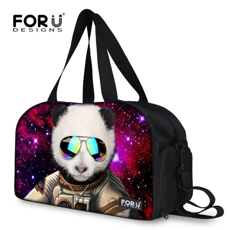 Unisex Travel Duffels Gym Bag Black And White Panda Canvas Weekender Bag Shoulder Bag Totes bags