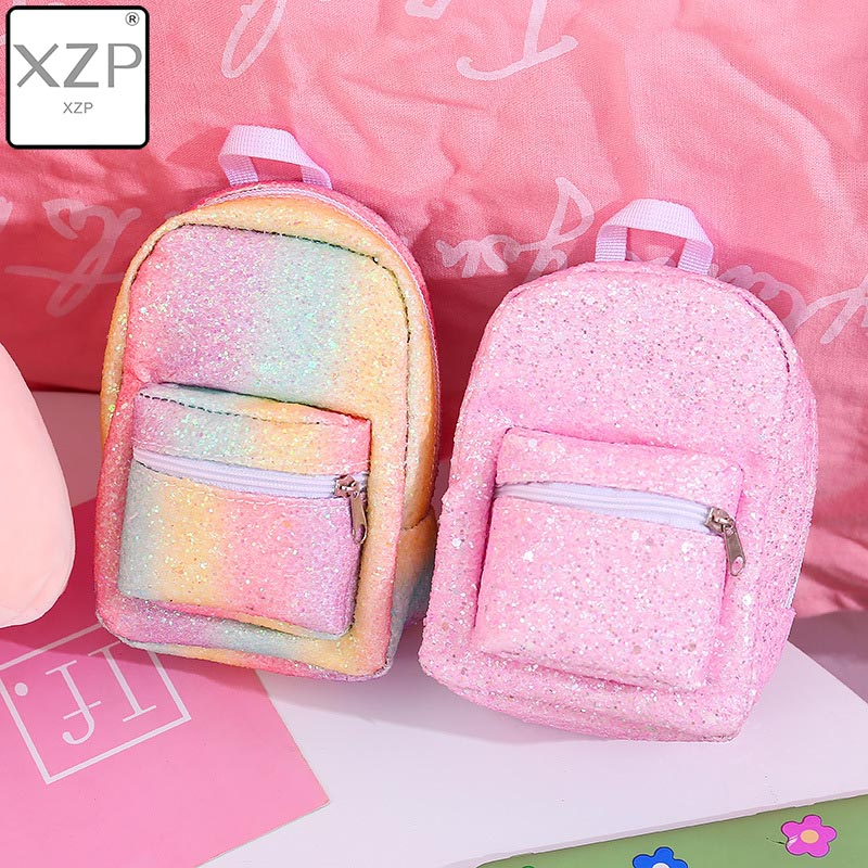 XZP Mini Coin Wrist Purse Backpack For Women Sequins Glitter Small Backpack Purse Designer Girls Back Pack Kawaii Cute Bagpack
