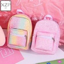 XZP Mini Coin Wrist Purse Backpack for Women Sequins Glitter Small Designer Girls Back Pack Kawaii Cute Bagpack