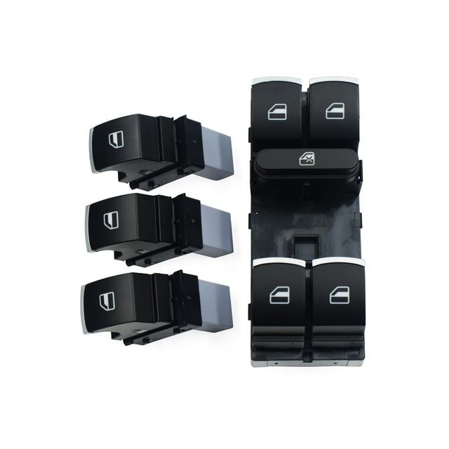 Controle de Janela De poder Interruptor de Botão Set Para Volkswagen VW Golf MK5 6 5ND B6 Jetta Passat Tiguan Touran Coelho 959 857 5ND 959 855