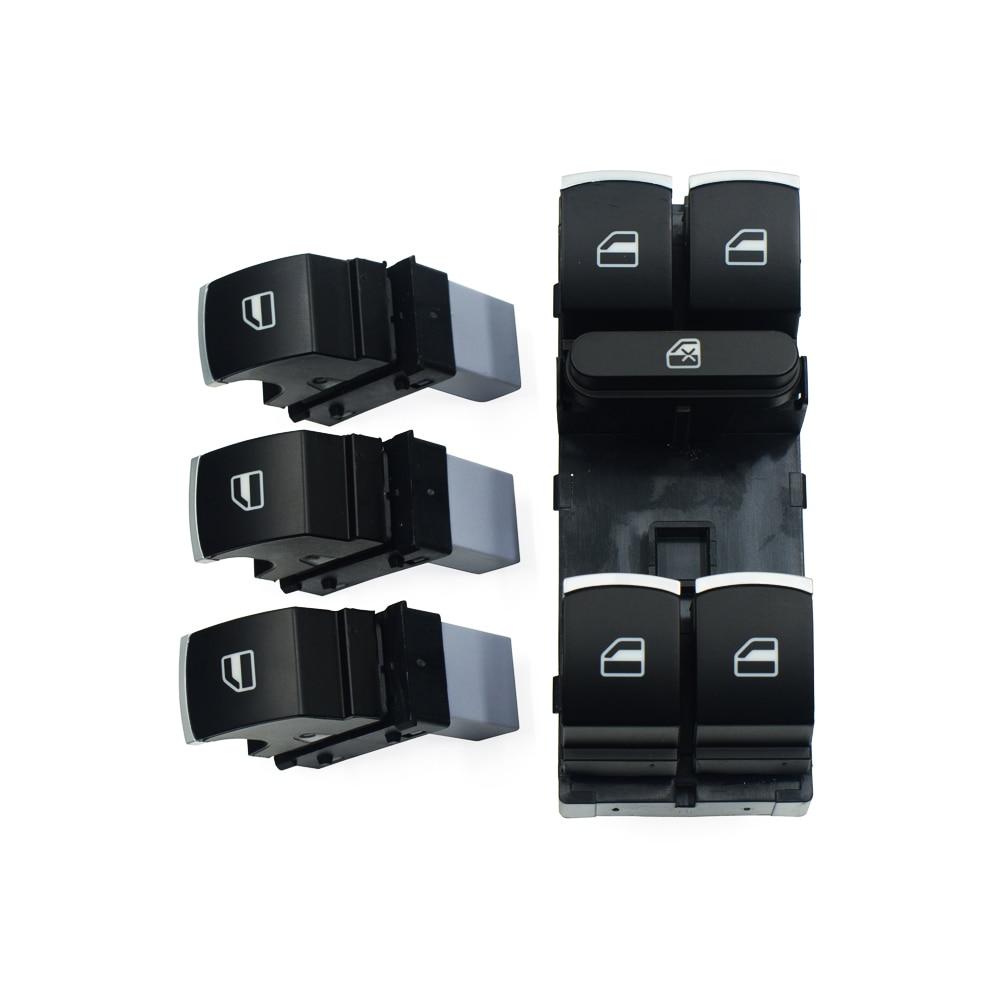 Комплект кнопок переключения питания на окно для Volkswagen VW Golf MK5 6 Jetta Passat B6 Tiguan Rabbit Touran 5ND 959 857 5ND 959 855