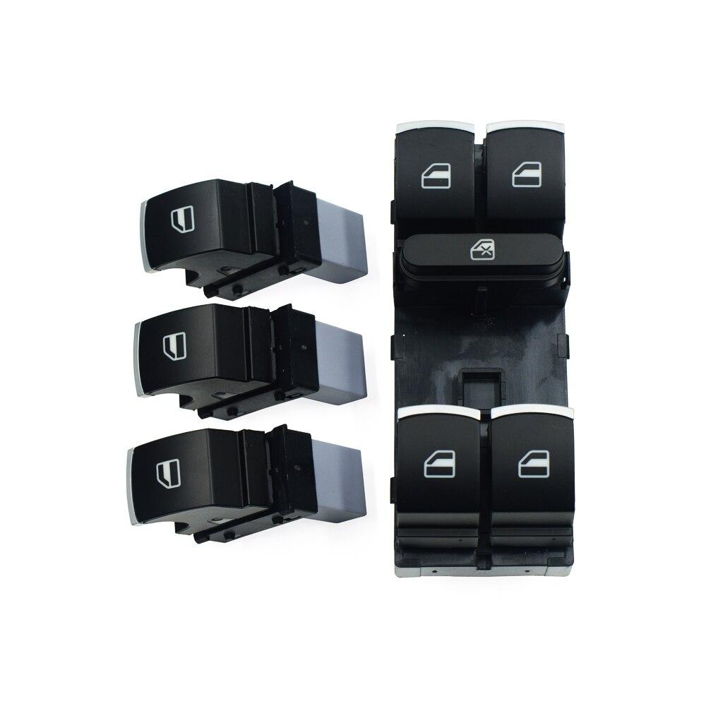 Przełącznik elektrycznego sterowania szybą zestaw przycisków dla Volkswagen VW Golf MK5 6 Jetta Passat B6 Tiguan królik Touran 5ND 959 857 5ND 959 855