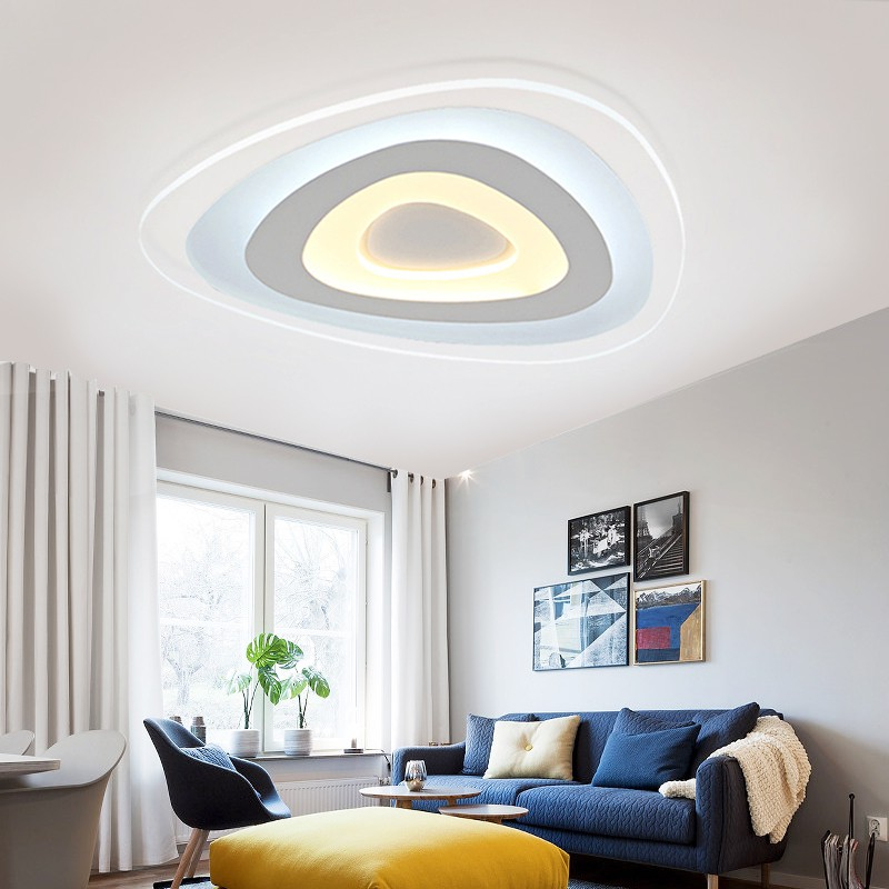 Modern ceiling LED lamps bedroom modern minimalist personality ultra thin circular led Zhuwo ceiling lamps control children ET60 kronprinz 614004 5 5x14 5x160 et60