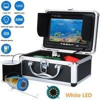 GAMWATER 7 20M Fish Finder HD 1000TVL Underwater Fishing Camera Kit 12 PCS White LED