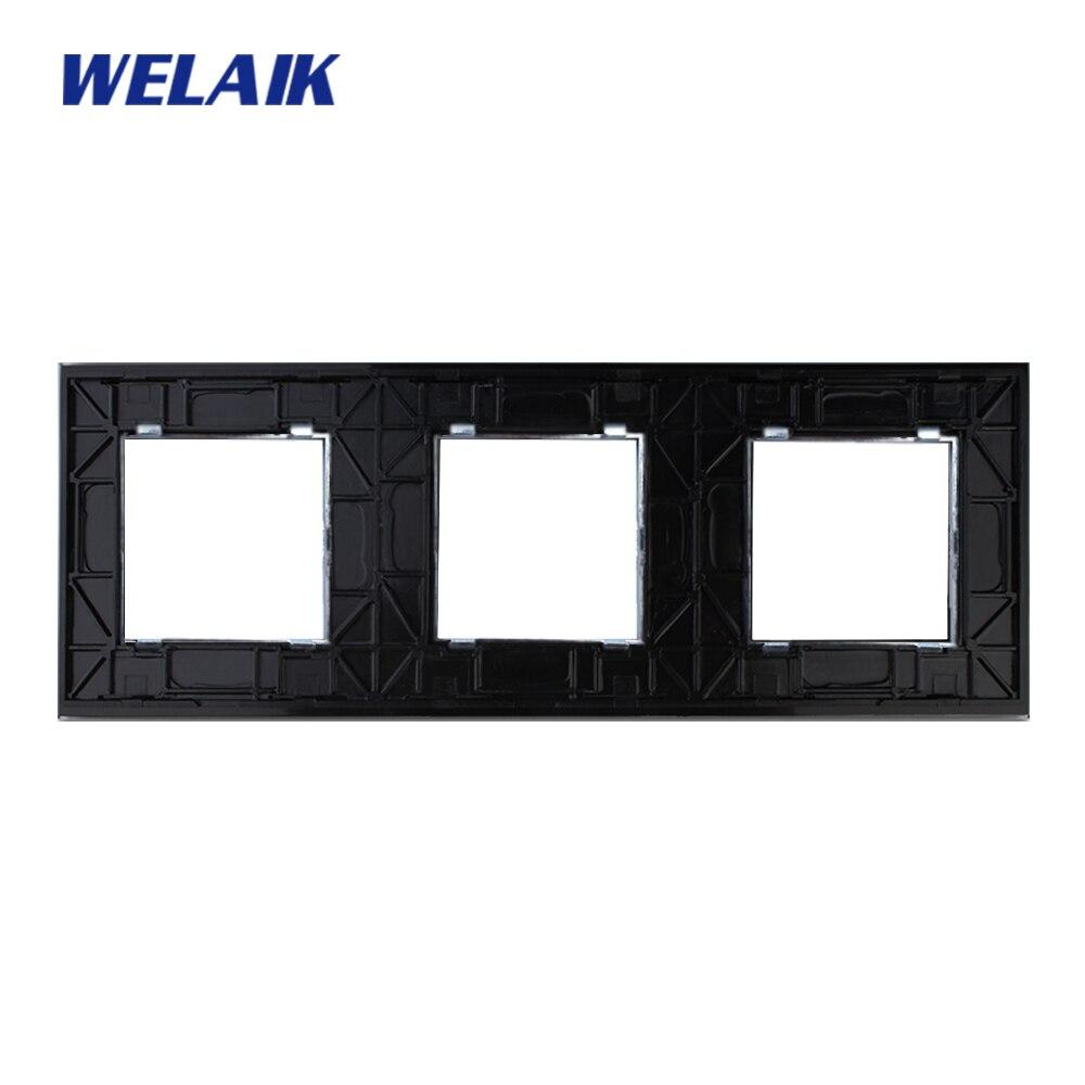 Interruptores e Relés branco preto painel de vidro Color : White/black