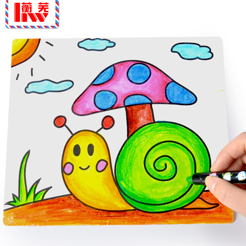 Takefuns 20 Pack Paper Graffiti Blank DIY Handmade Painting Painting Educational Toys Windmill for Kids Children Baby DIY Toys