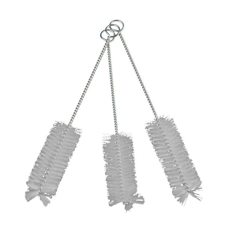 HOT GCZW-120*9mm Nylon Cleaner Cleaning Brush Wash Stainless Steel Drink Pipe StrawAmount:10Pcs