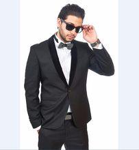 4491388dff Por encargo del regreso al hogar traje Groomsmen chal negro solapa del  novio esmoquin Charcoal hombres trajes de boda mejor homb.