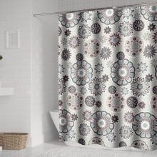 Bohemian Mandala Shower Curtains Bathroom Geometric Waterproof Bath Curtain Bathtub Bathing Cover Extra Large Wide 12 Hooks