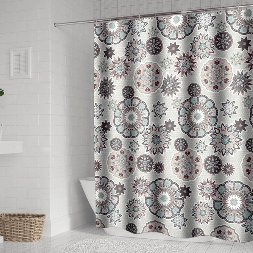 bohemian mandala shower curtains bathroom geometric waterproof bath curtain bathtub bathing cover extra large wide 12 hooks