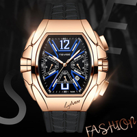 Men Watch Tevise Top Brand Luxury Automatic Mechanical Watches For Men Self Winding Tourbillon Male Wristwatch Relogio Masculino