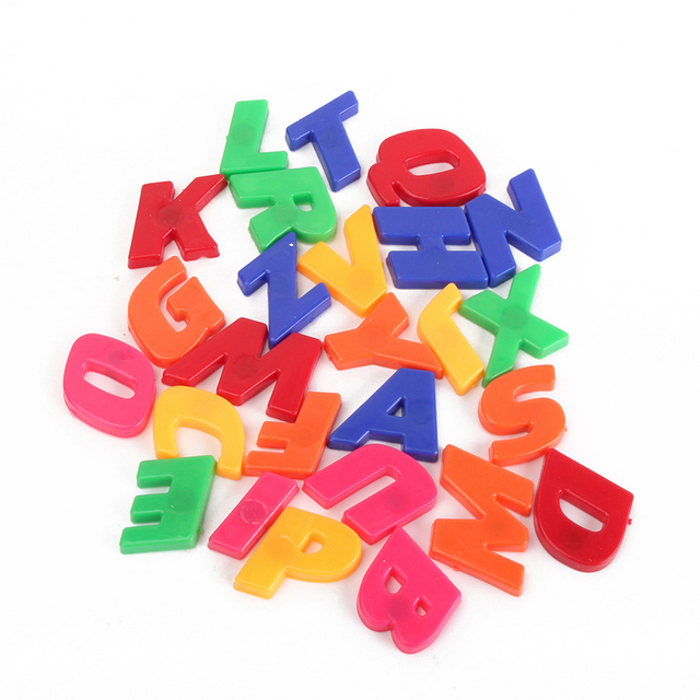 78pcs set colorful plastic magnetic alphabet letters for Magnetic letters for babies