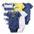 Wholesale Baby Boys Summer Romper Newborn Boy Soft Cotton Jumpsuit 5Pcs/Lot 15E