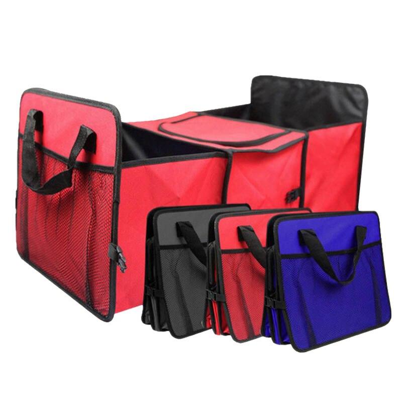 Rot/Blau/Schwarz/Orange Oxford Tuch Auto Stamm Lagerung Box Auto Organisieren Rücksitz Lagerung für Auto Lkw oder SUV Organizer
