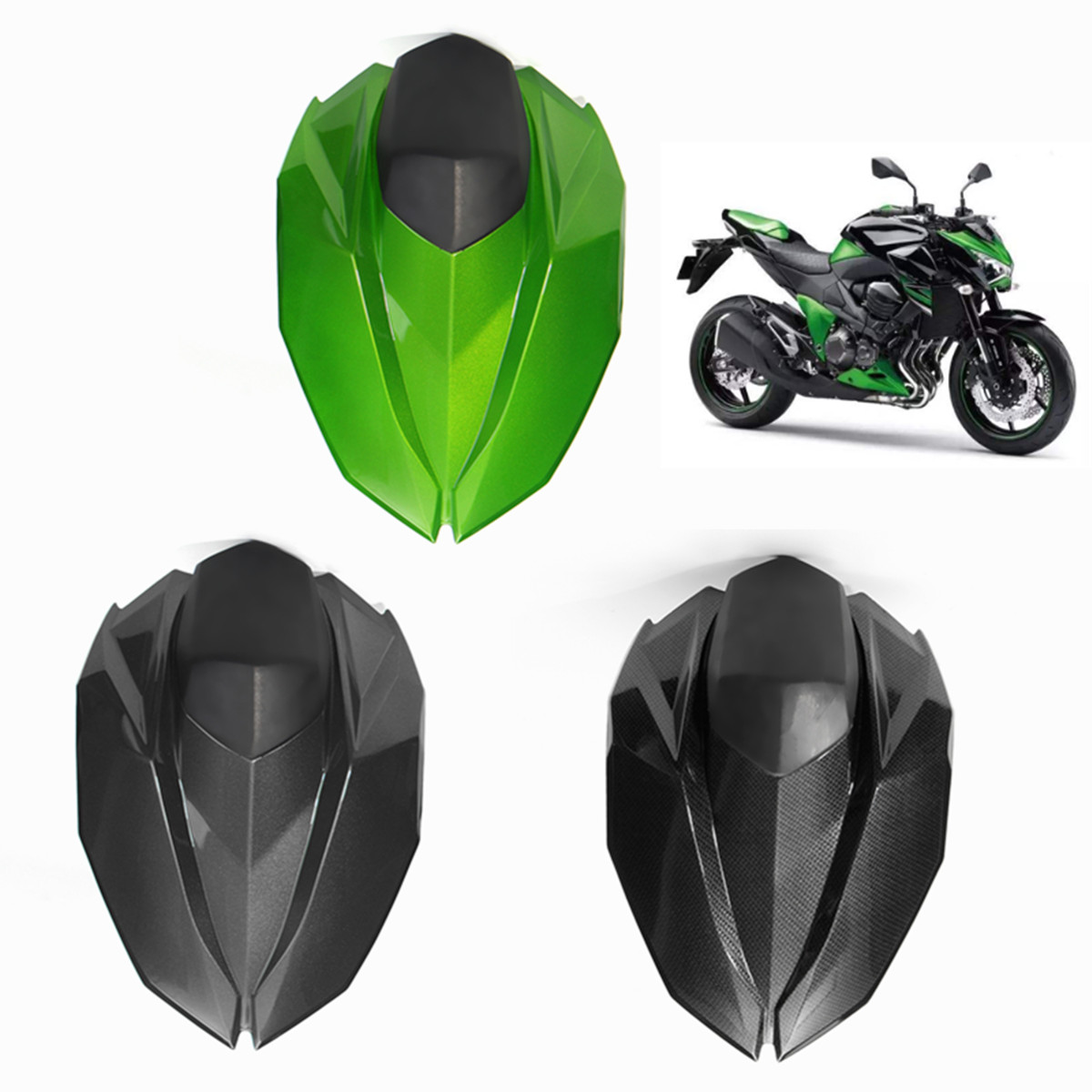 Motorcycle Rear Seat Cover Cowl Rear Fairing Set Plastic Passenger Seat Pillion for Kawasaki Z800 Z 800 2013 2014 2015 2016Motorcycle Rear Seat Cover Cowl Rear Fairing Set Plastic Passenger Seat Pillion for Kawasaki Z800 Z 800 2013 2014 2015 2016