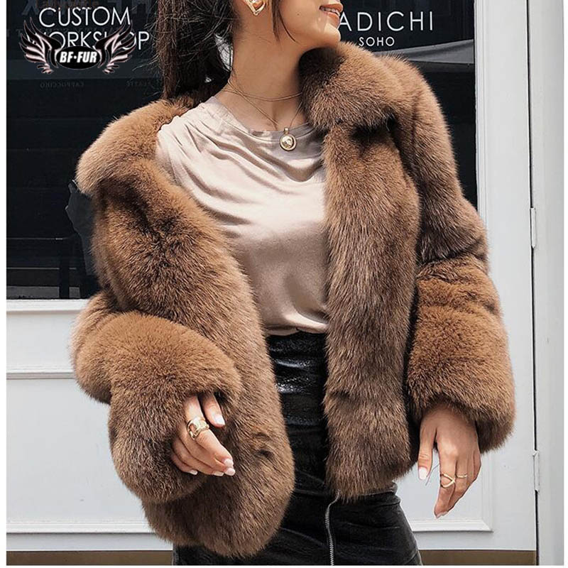 Russian Winter Coats Loose Clothing Oversized Outerwear Good Quality Real Fur Coat Whole Skin Women's Park With Natural Fur