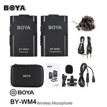 BOYA BY-WM4 беспроводной петличный микрофон системы для Canon Nikon sony Panasonic DSLR камера видеокамера iphone android смартфон