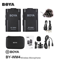 BOYA BY WM4 Wireless Lavalier Microphone system for Canon Nikon Sony Panasonic DSLR Camera Camcorder iphone android smartphone