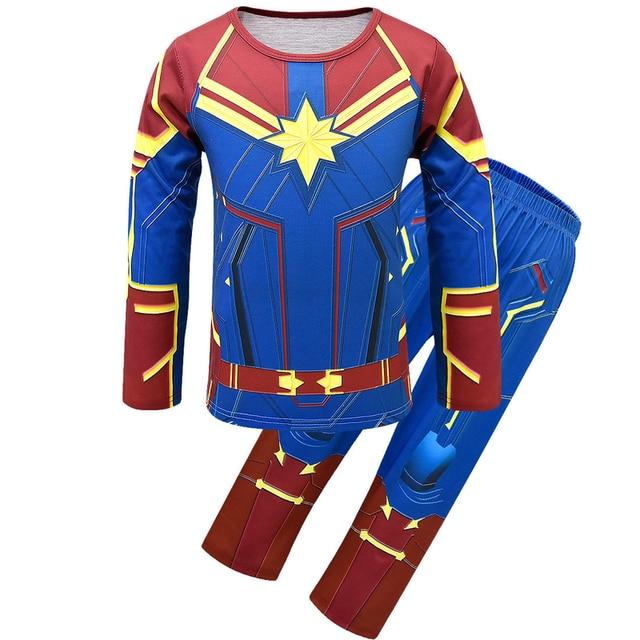 832db74fb386 Kids Captain Marvel Funny Pyjamas Carol Danvers 2019 Superhero Halloween  Costumes Boys Girls Pajamas Cosplay Carol