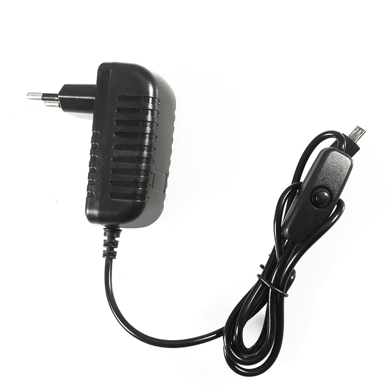 20Pcs 5V 3A Power Supply Charger AC Adapter Micro USB Cable with Power On Off Switch