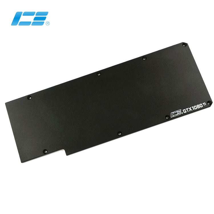 Original Icemancooler GTX1080 Ti Backplate Graphics Card Board Full Cover Graphics Card Water Cooling Block Backboard Rear Panel