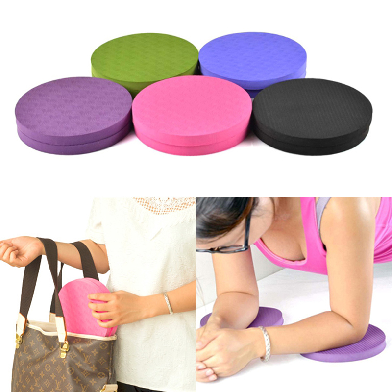 Yoga Knee Pad Portable Disc Protective Pad Non Slip Round Mats Fitness Sprot Pad Plank Gym Cushion  TPE Mat 2PCS/Set